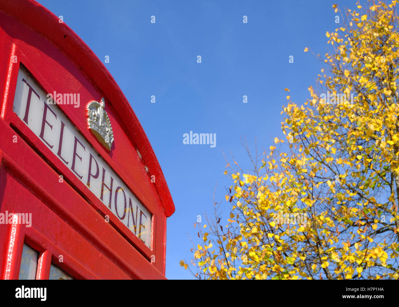 telephone kiosk on an English street - Stock Image