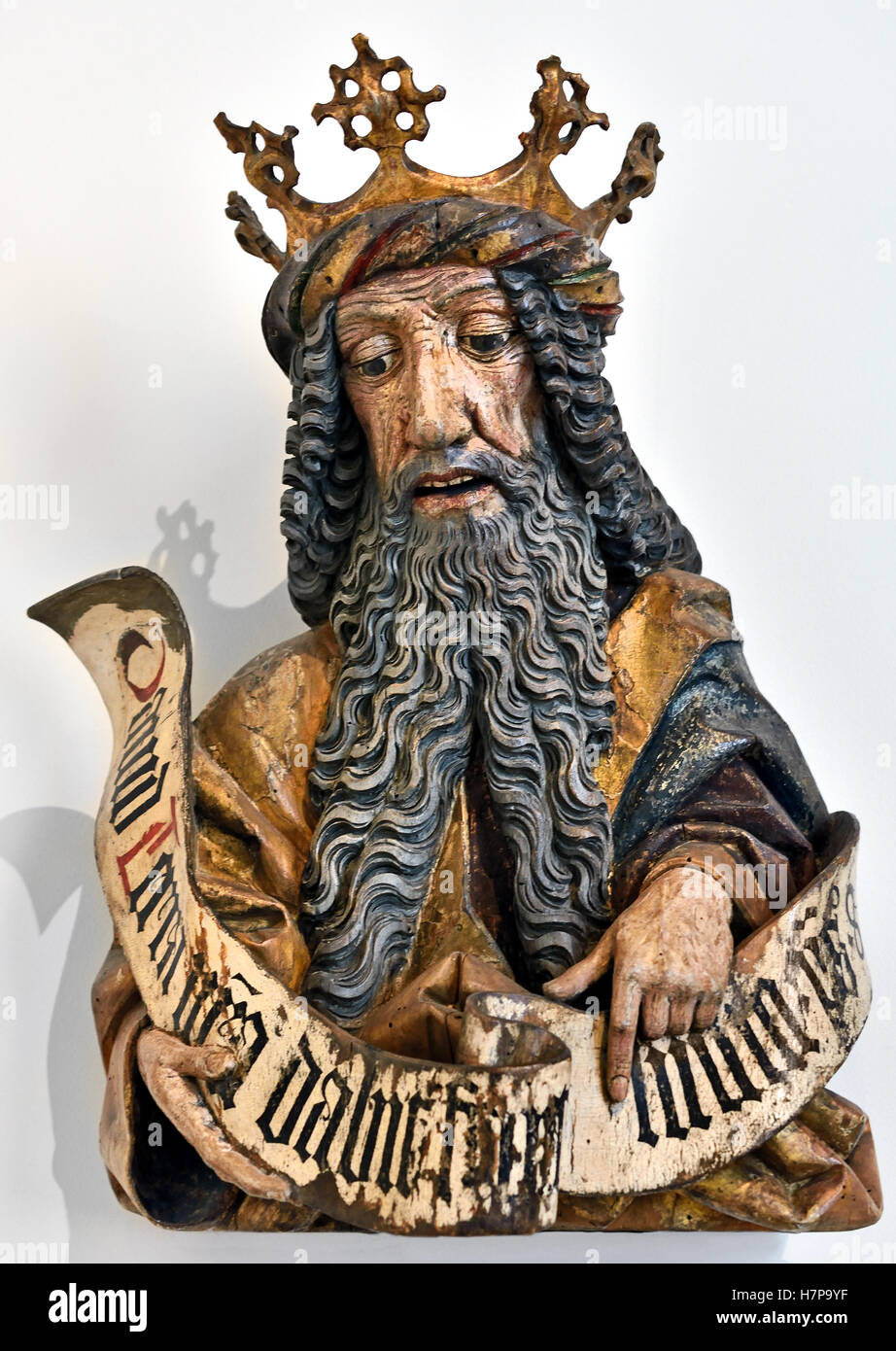 King David 1460 Oberschwaben Ulm German Germany ( David according to the Hebrew Bible, was the second king of the - Stock Image