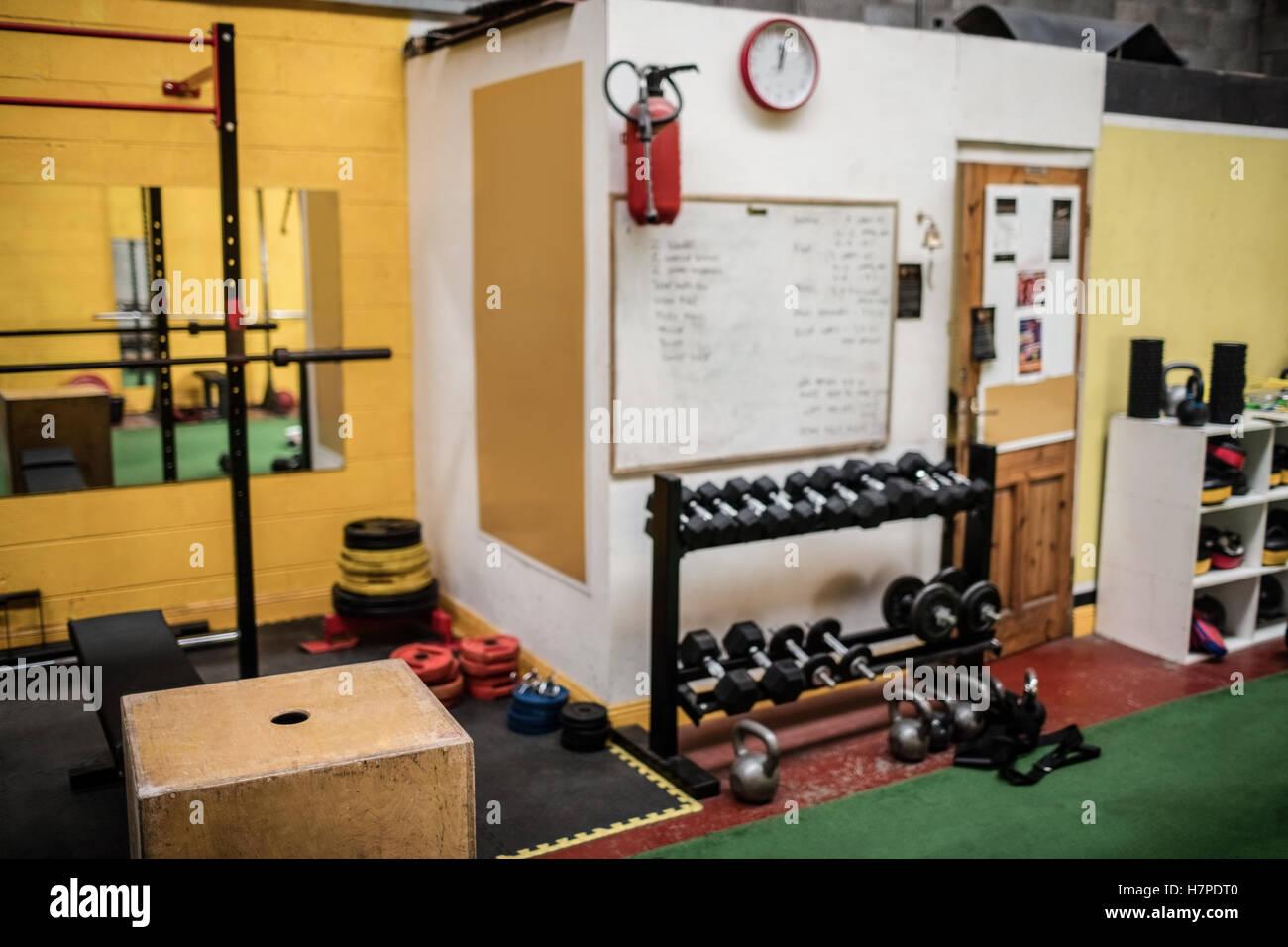 Various exercising equipment - Stock Image