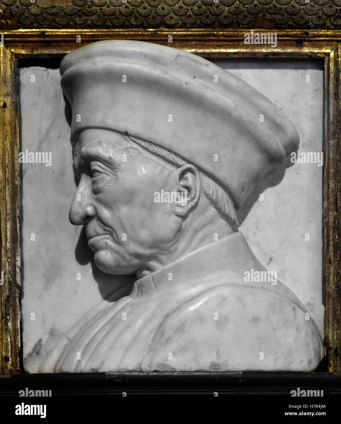 Portrait of Cosimo di Giovanni de' Medici 1389 -1464 Italian banker politician and the first of the Medici political - Stock Image