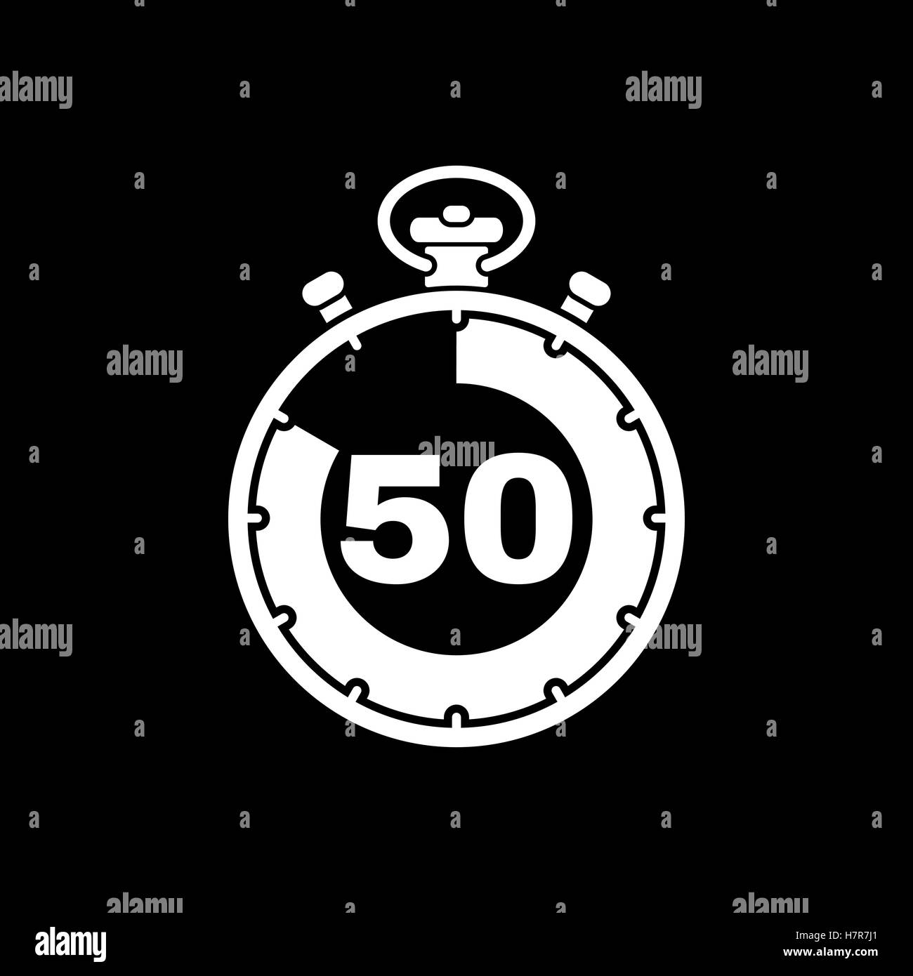 the 50 seconds minutes stopwatch icon clock and watch timer stock