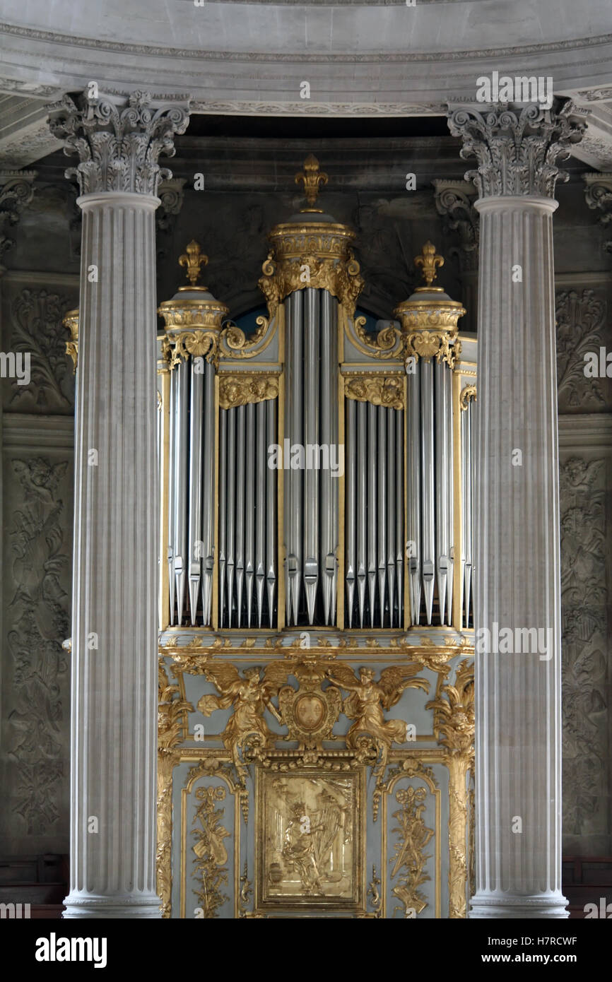Decorated church organs. Baroque style decorated organs. - Stock Image