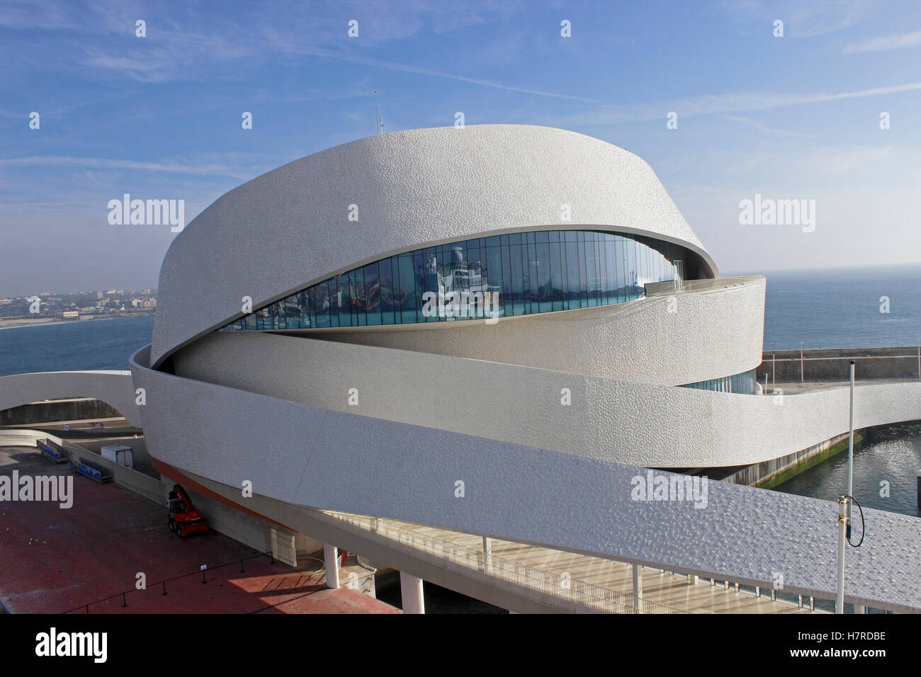 Cruise terminal Leixoes, Porto, Portugal Stock Photo
