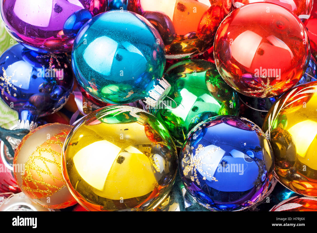 christmas ornaments beautiful shiny real glass vintage christmas balls colorful eye catching brilliant christmas - Glass Christmas Balls