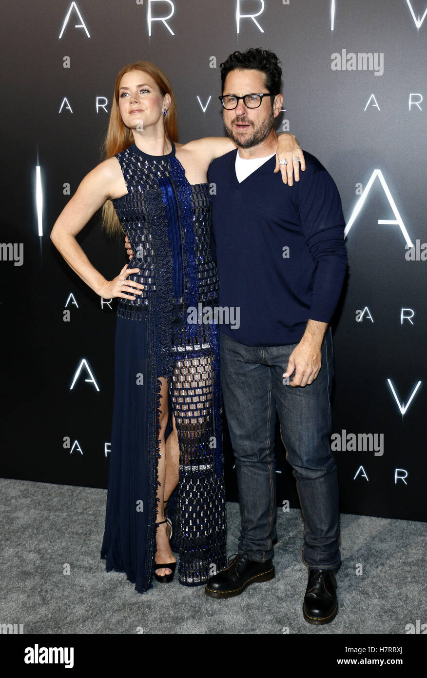 Westwood, USA. 6th Nov, 2016. Amy Adams and J.J. Abrams at the Los Angeles premiere of 'Arrival' held at - Stock Image