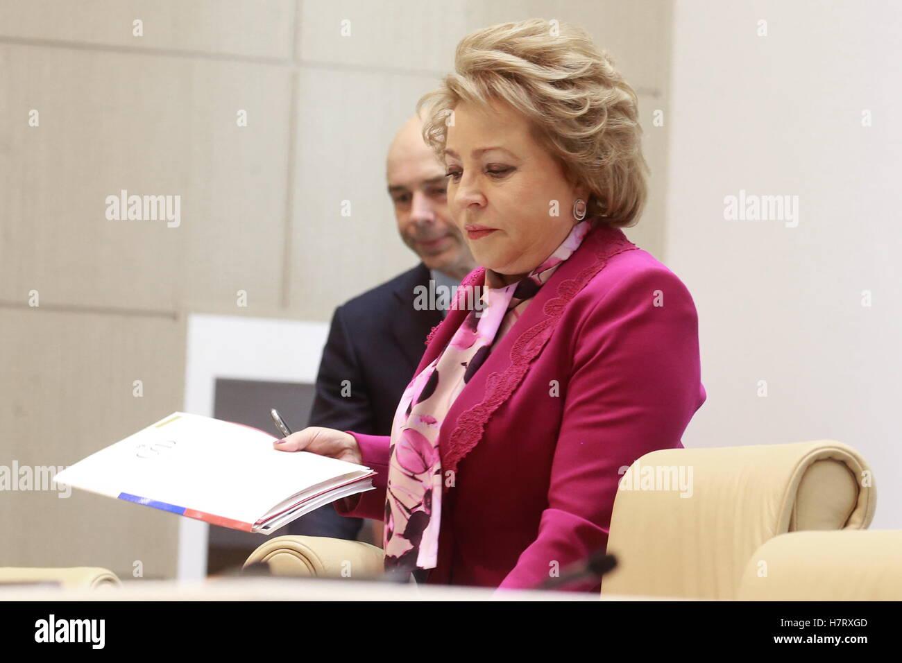 Valentina Matvienko again took over as head of the Federation Council 01.10.2014 32