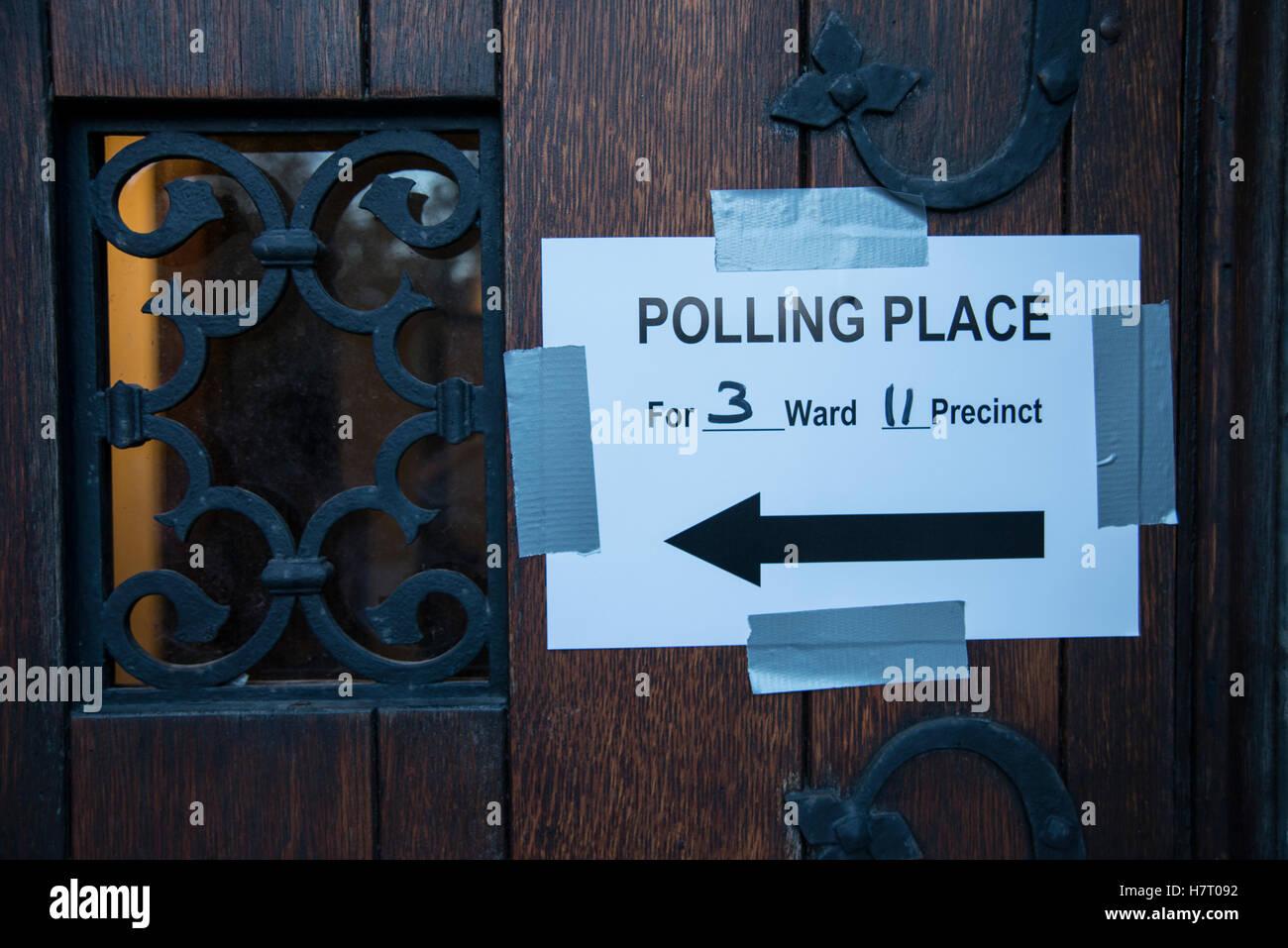 Polling Place on Nov 8 th, Election Day at Presbyterian Church, Bolton Hill, Baltimore, Maryland, USA © Yuriy Zahvoyskyy Stock Photo
