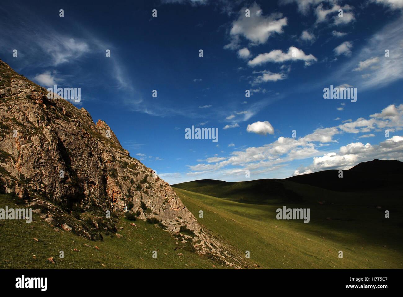 Mountain in Tibet - Stock Image