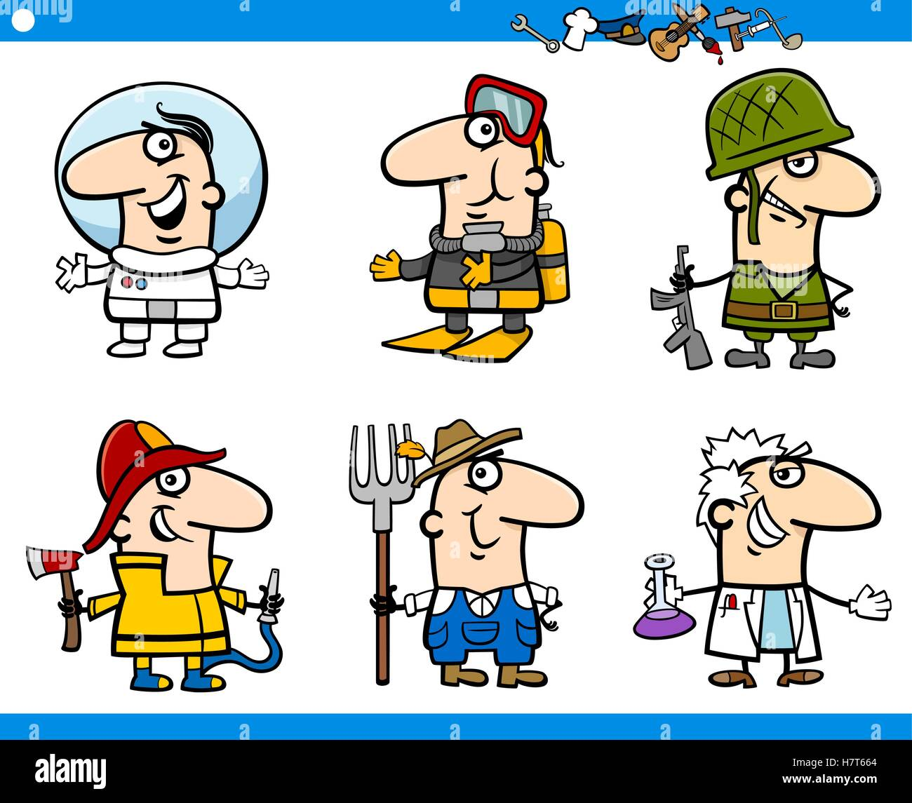 people occupations characters set Stock Vector