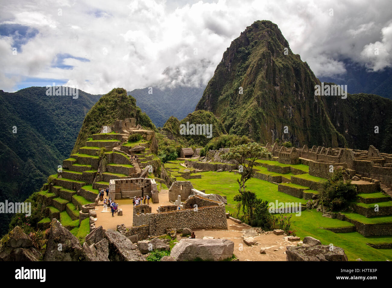 Ruins of Machu Picchu, Peru - Stock Image