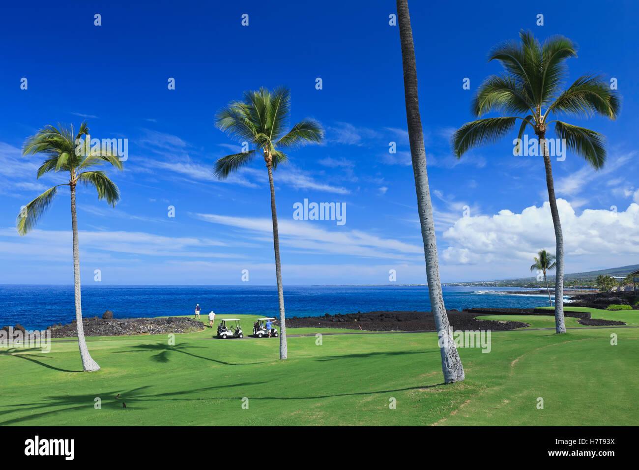 Golf course, Kona Country Club; Kailua Kona, Island of Hawaii Stock ...