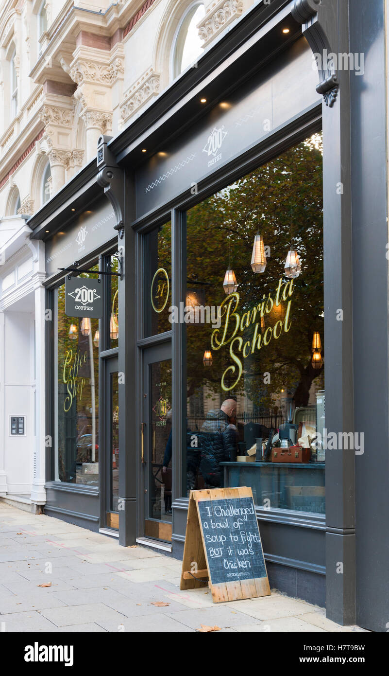 200 degrees coffee shop, Colmore Row, Birmingham, part of the Grand Hotel redevelopment - Stock Image
