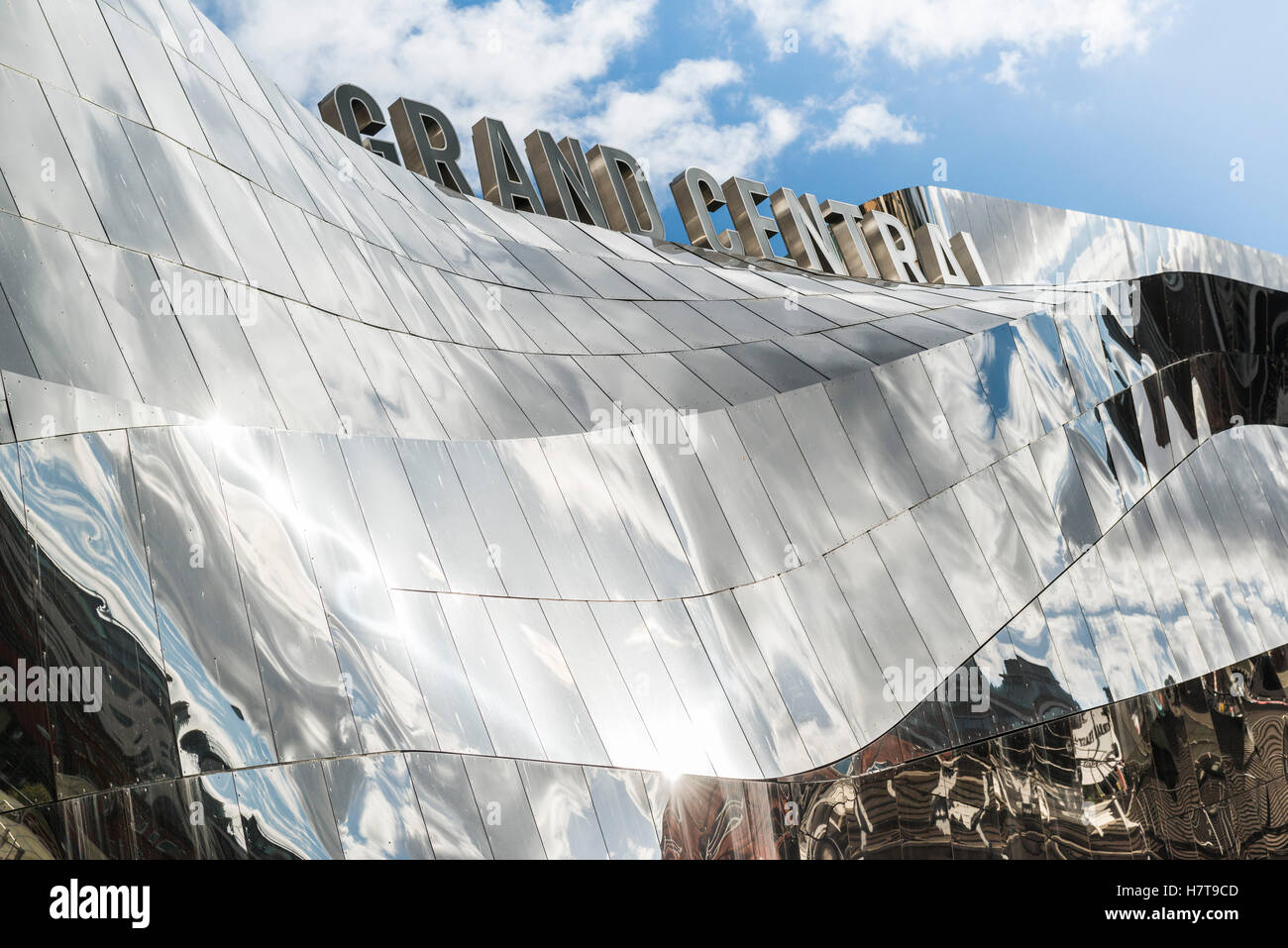 Grand Central shopping centre exterior at Birmingham New Street station, Birmingham, England.  Editorial usage only. - Stock Image