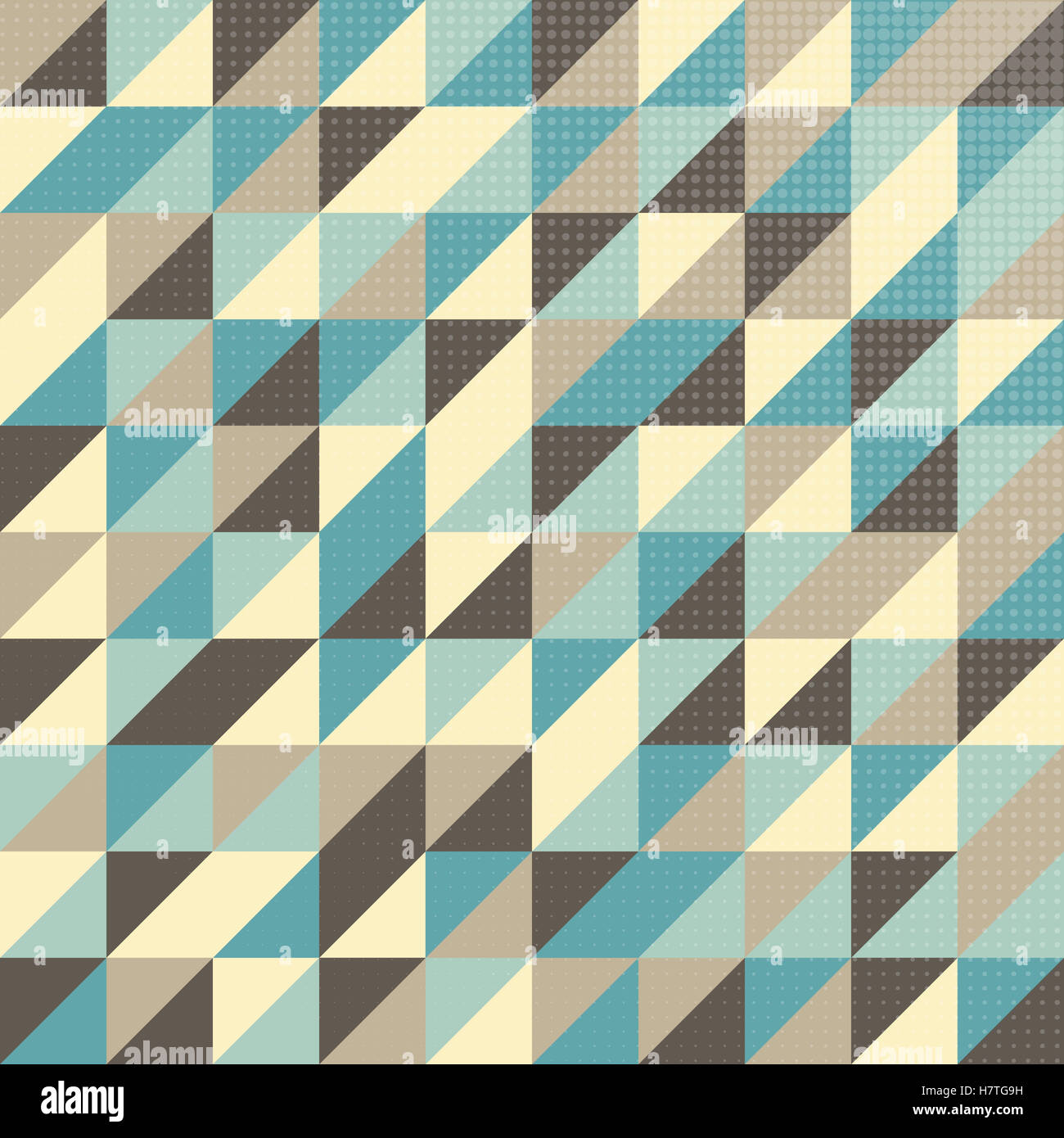 geometric pattern in vintage colors with halftone effect stock photo