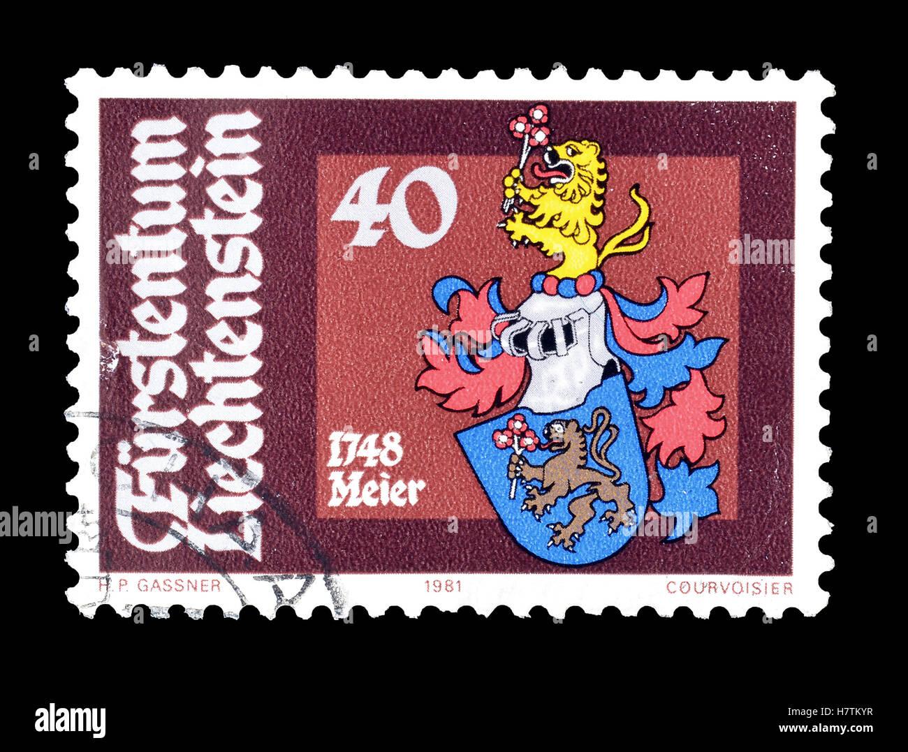 Liechtenstein stamp 1981 Stock Photo