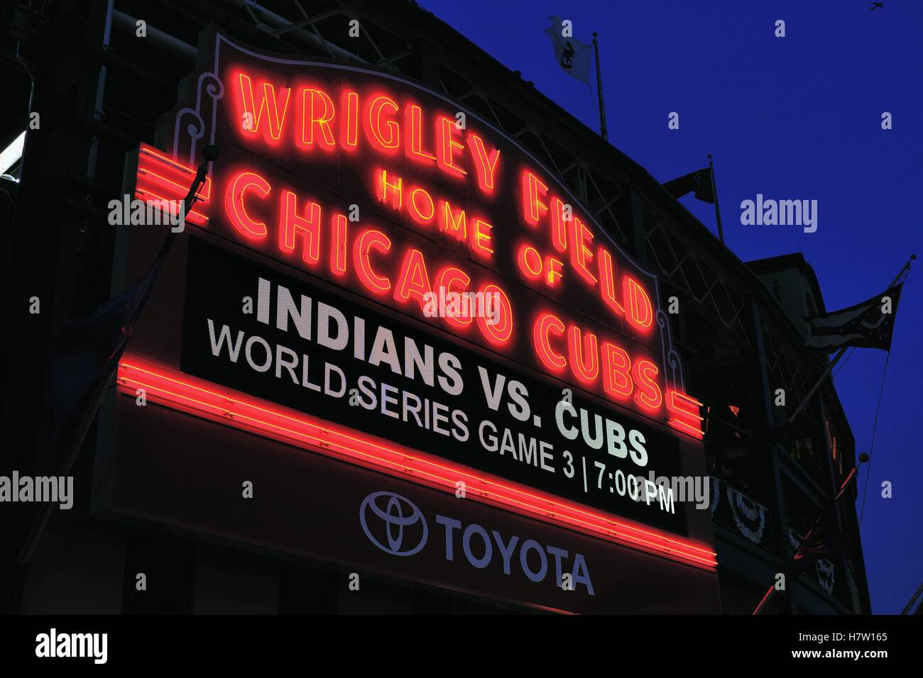 An exceedingly long wait was finally over as the Chicago Cubs won the National League pennant for the first time - Stock Image