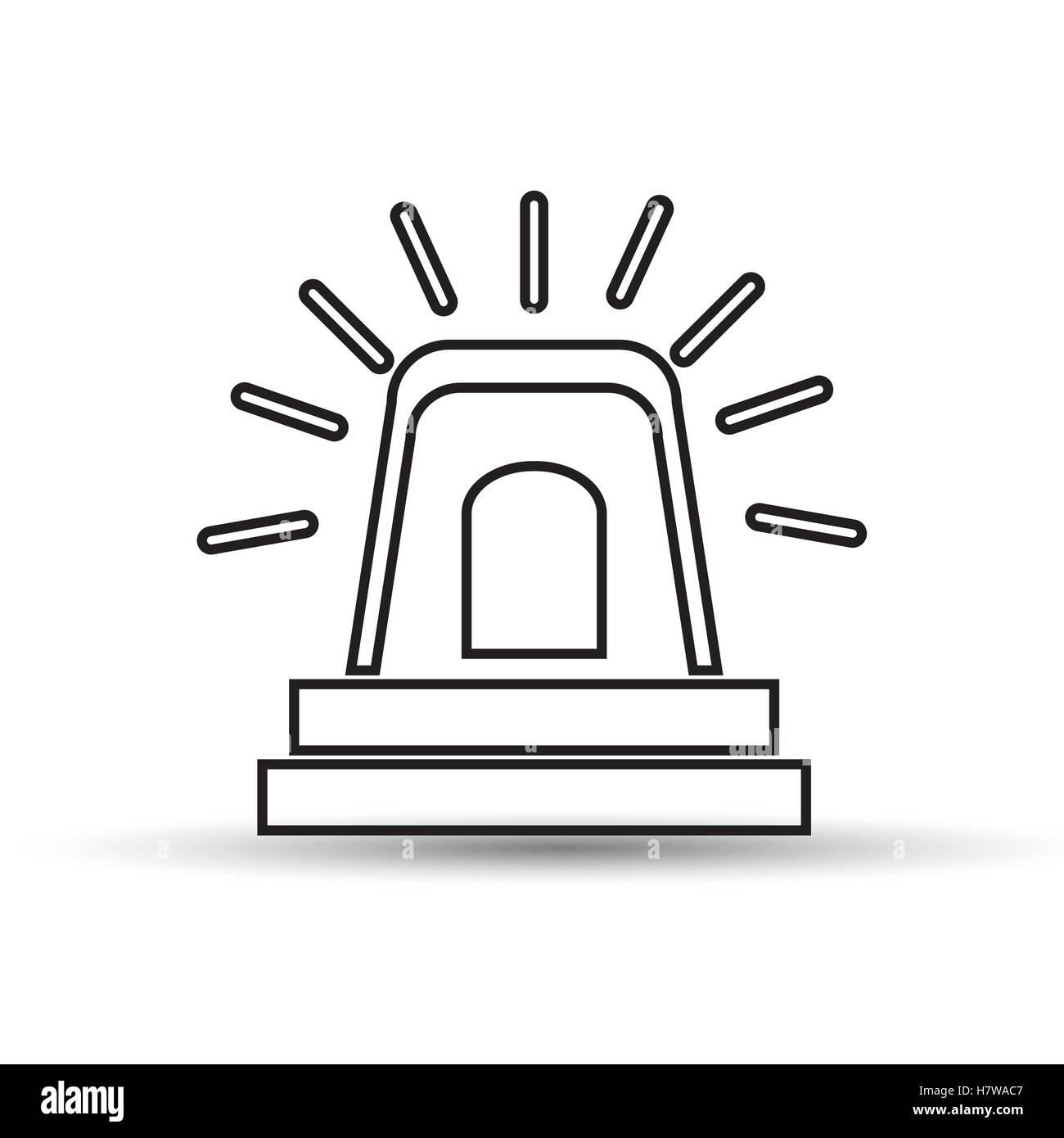 hand drawing alarm alert icon vector illustration eps 10 - Stock Image