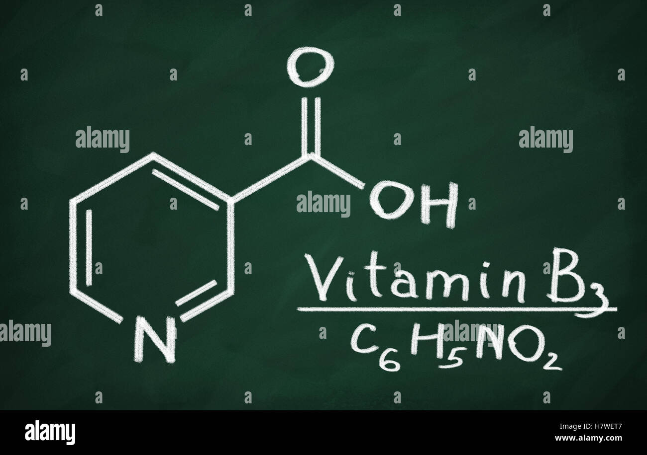 Vitamin b3 stock photos vitamin b3 stock images alamy structural model of vitamin b3 niacin on the blackboard stock image ccuart Image collections