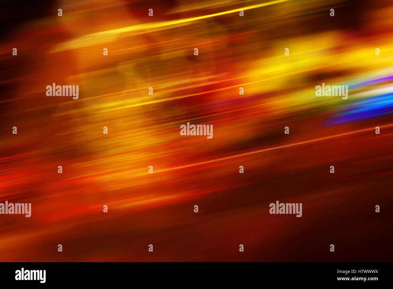 Colorful motion blur background with light streaks - Stock Image