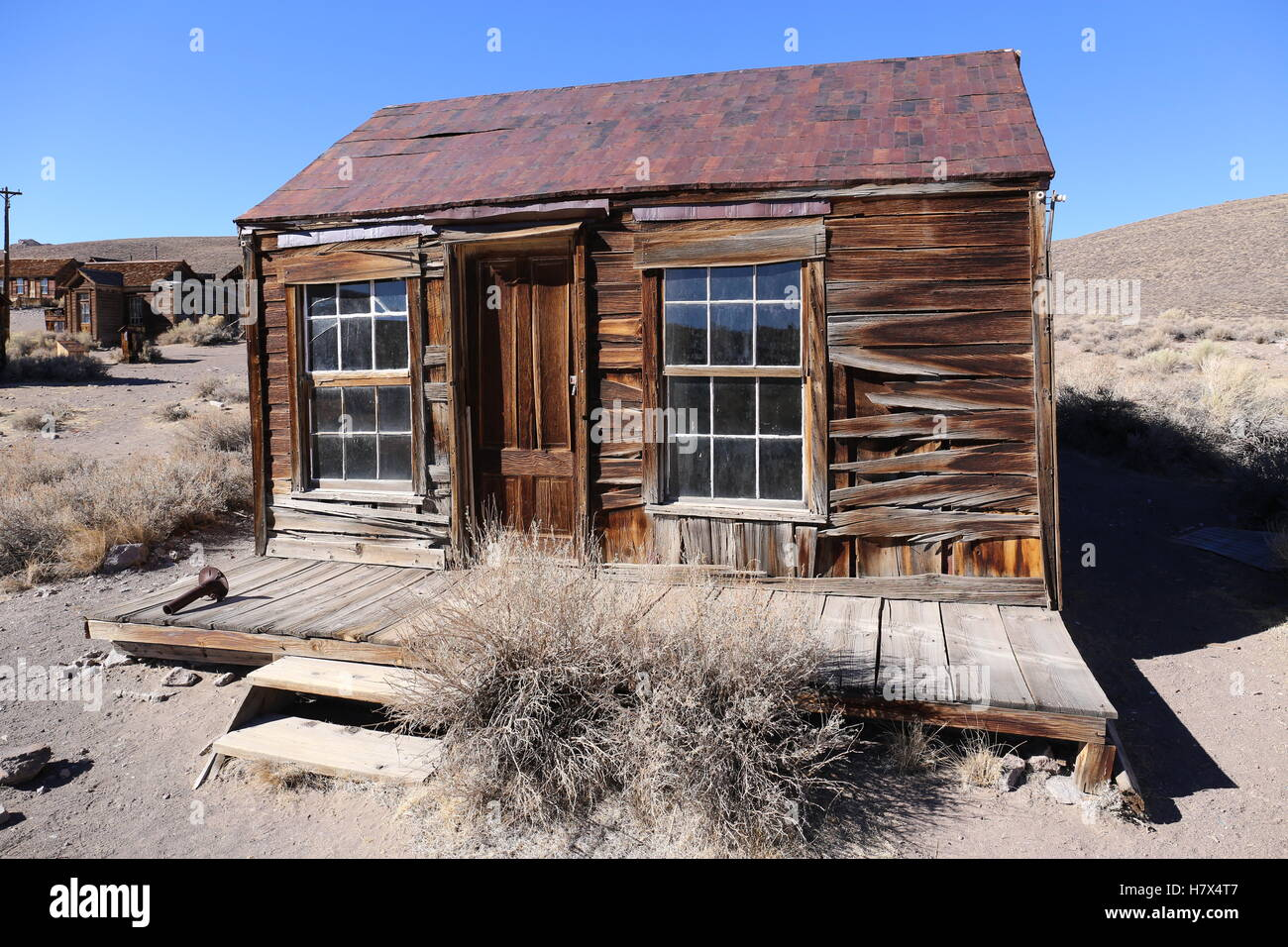 Old house in Bodie State historic Park, California, America - Stock Image