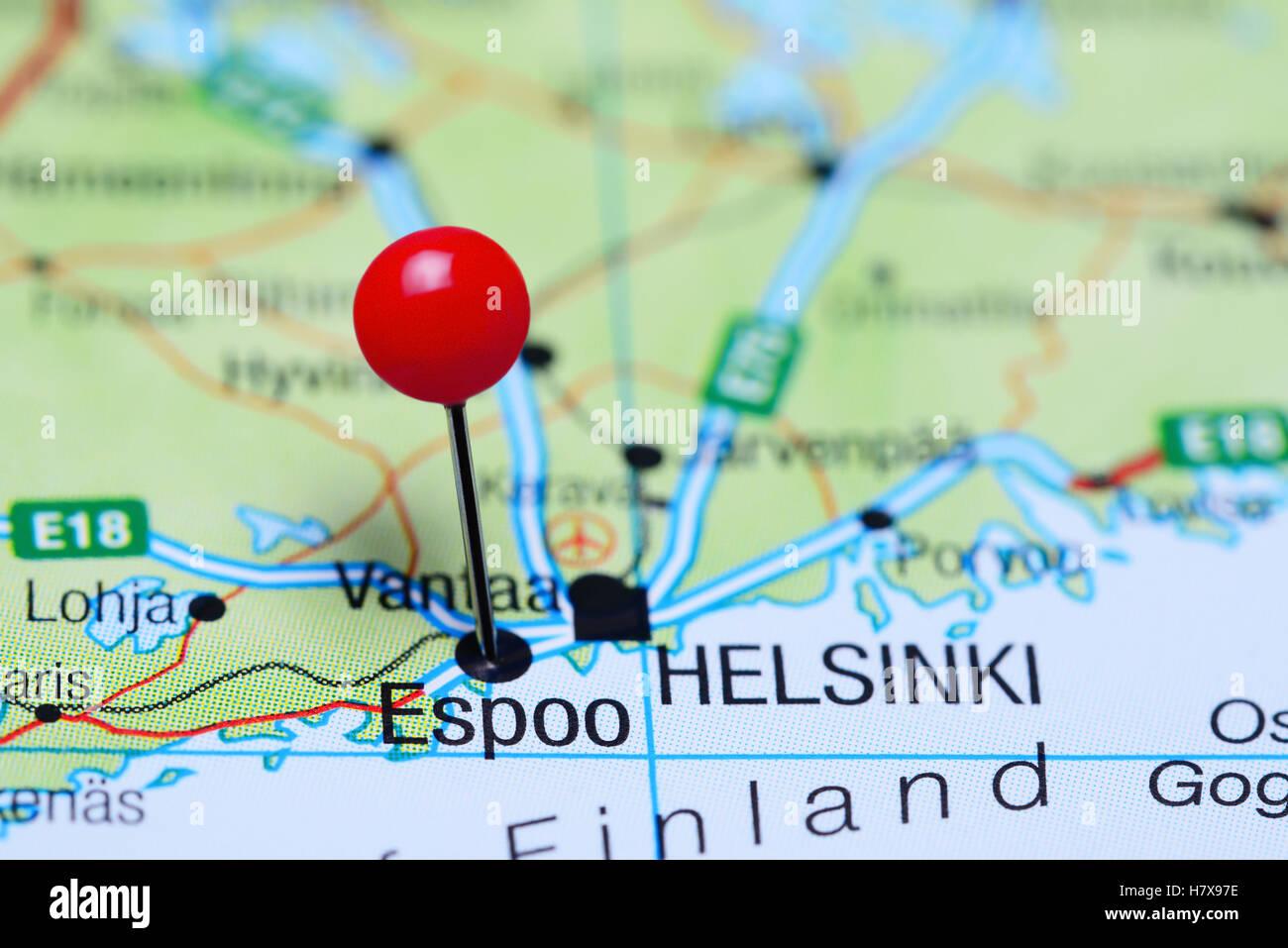 Espoo Map Stock Photos Espoo Map Stock Images Alamy