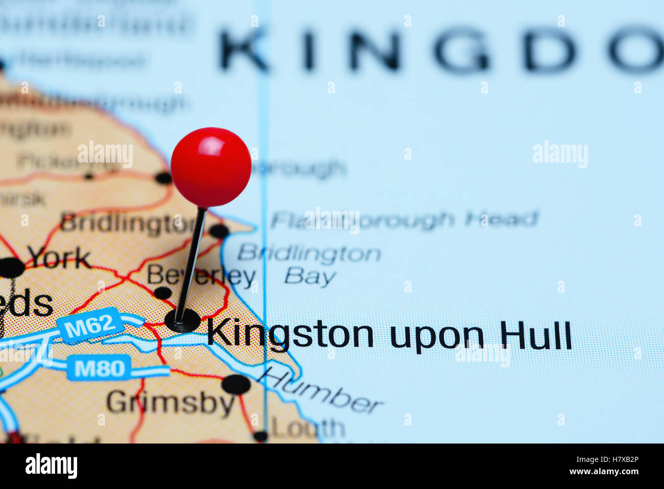 Map Of Uk Hull.Kingston Upon Hull Pinned On A Map Of Uk Stock Photo 125354622 Alamy