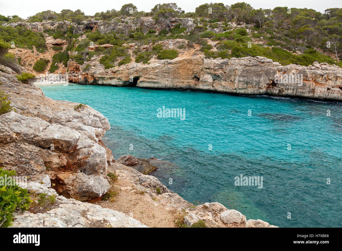 Calo des Moro. Calo des Moro - one of the many bays of Mallorca, the town Santanyí. Located in the south-east - Stock Image