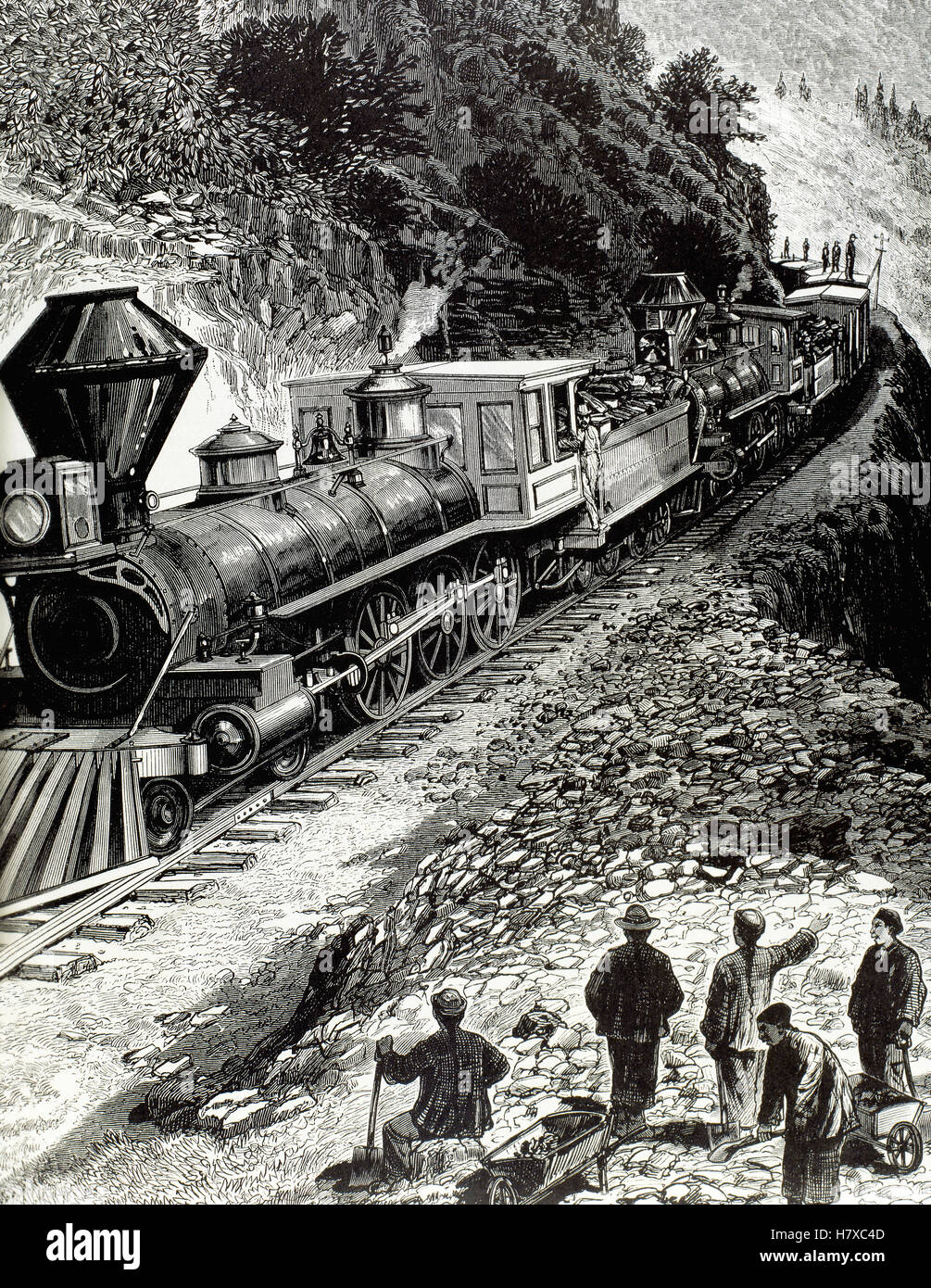 The United States  19th century  A train of the Central