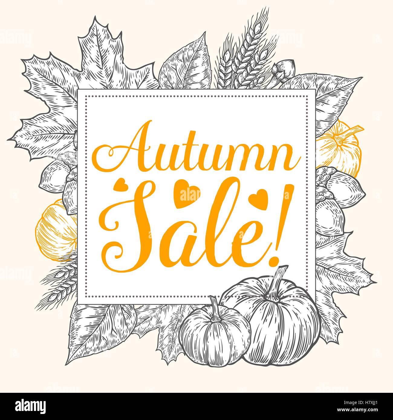 fall autumn sale design autumn discount vector fall leaves vector