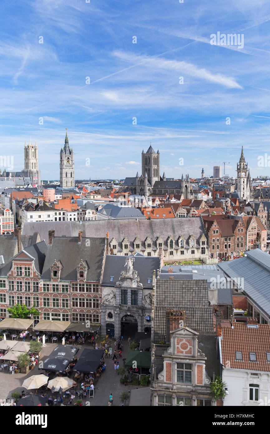 View of Ghent, Flanders, Belgium - Stock Image