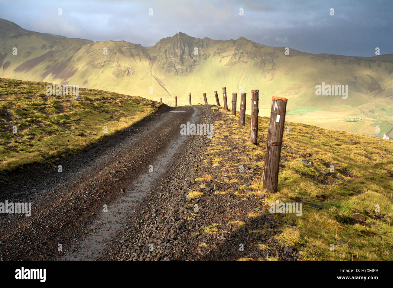 Mountain road, Iceland - Stock Image