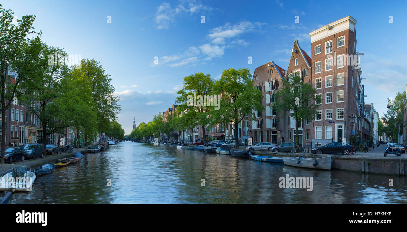 Prinsengracht canal, Amsterdam, Netherlands - Stock Image