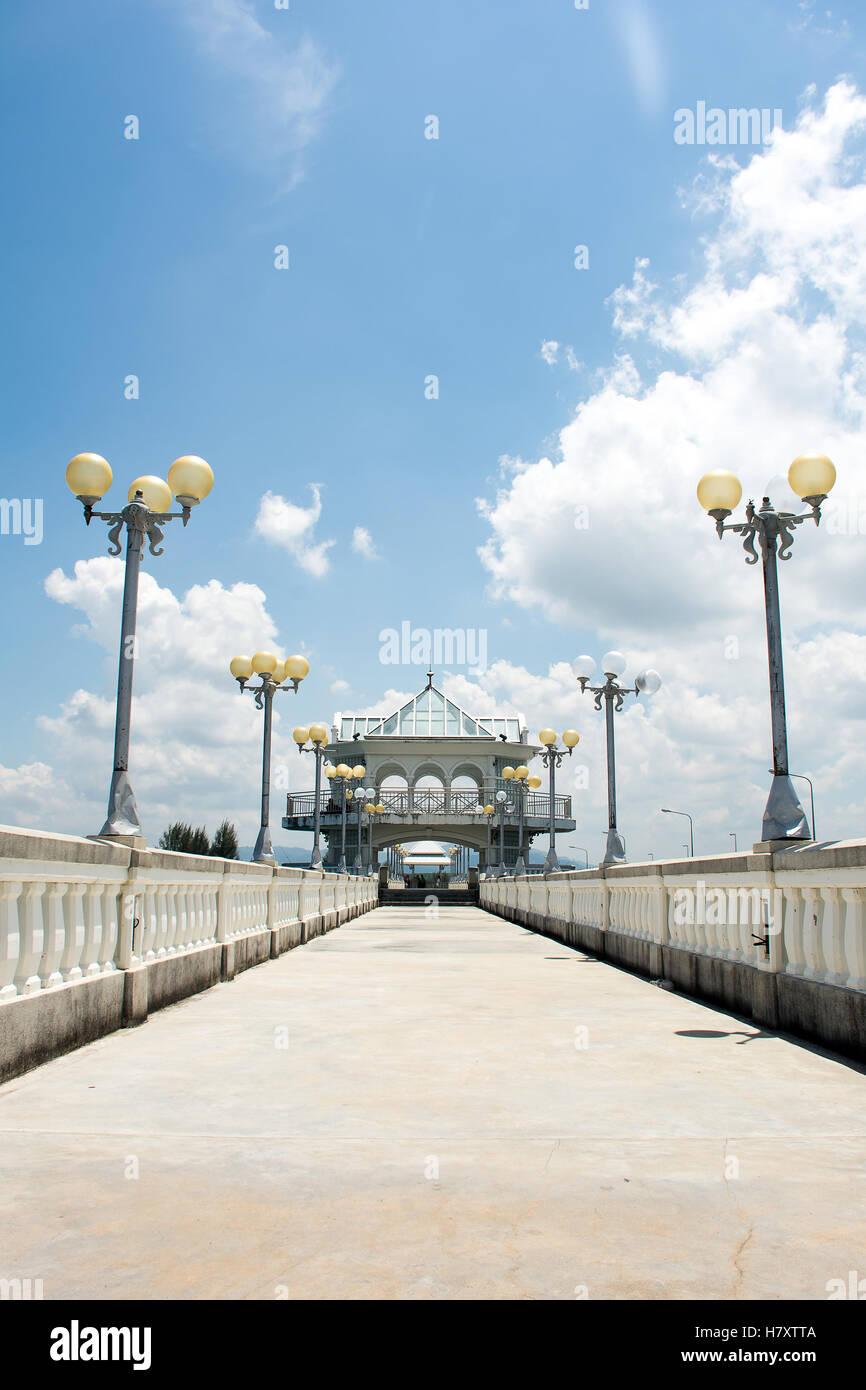 Sarasin bridge  linked Phuket Island to the mainland of Phang Nga Province.Phuket Thailand Stock Photo