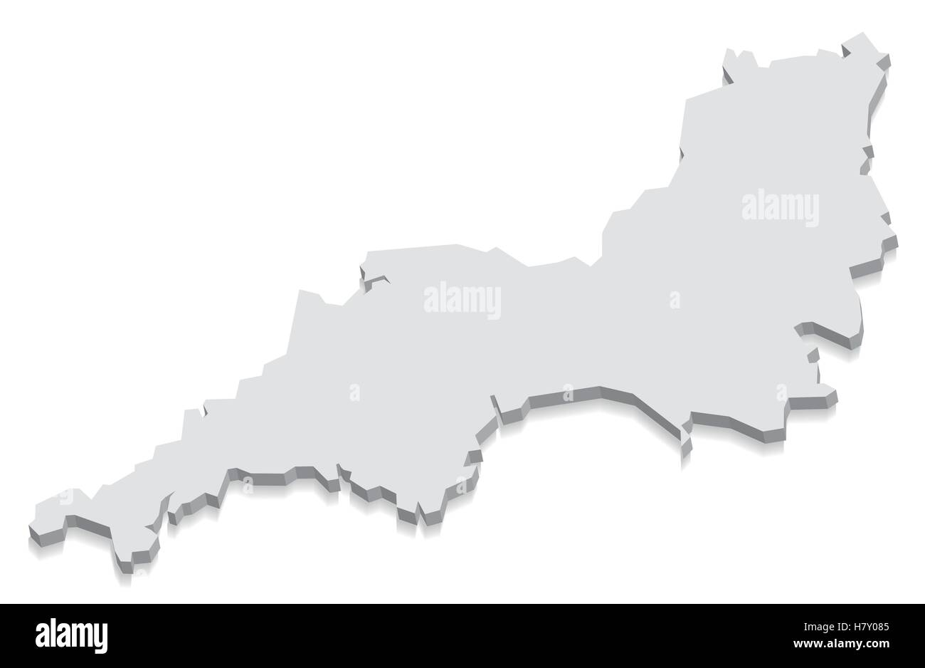 3d Map Of England.South West England Map Grey 3d Stock Vector Art Illustration