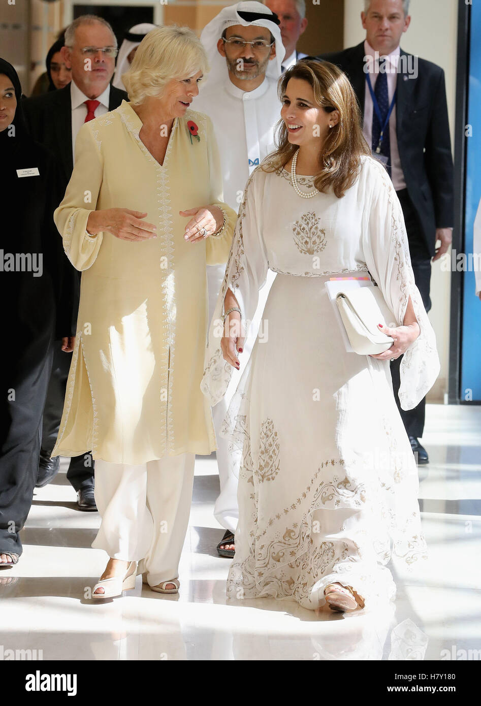 The Duchess Of Cornwall And Princess Haya Bint Al Hussein During A