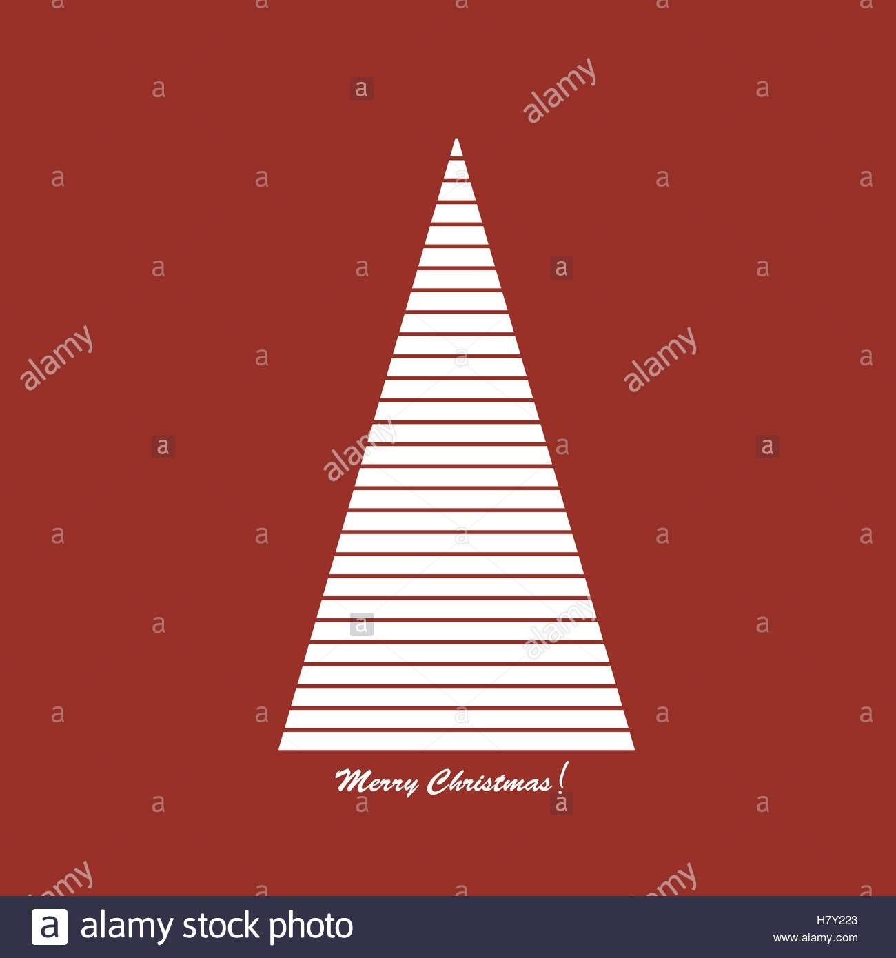 Card with stylised Christams tree - Stock Vector