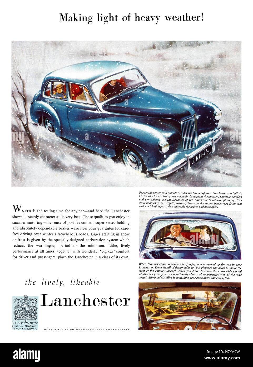 Lanchester Leda and Spite - the latest company cars