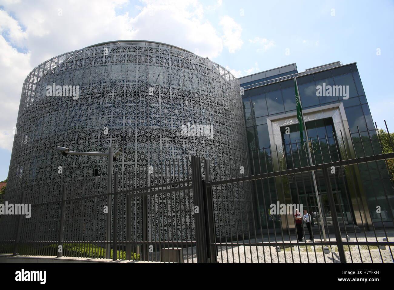 Amnesty International protested to free Raif Badawi at the Saudi-Arabian Embassy, May, 22nd 2015 in Berlin Germany. - Stock Image