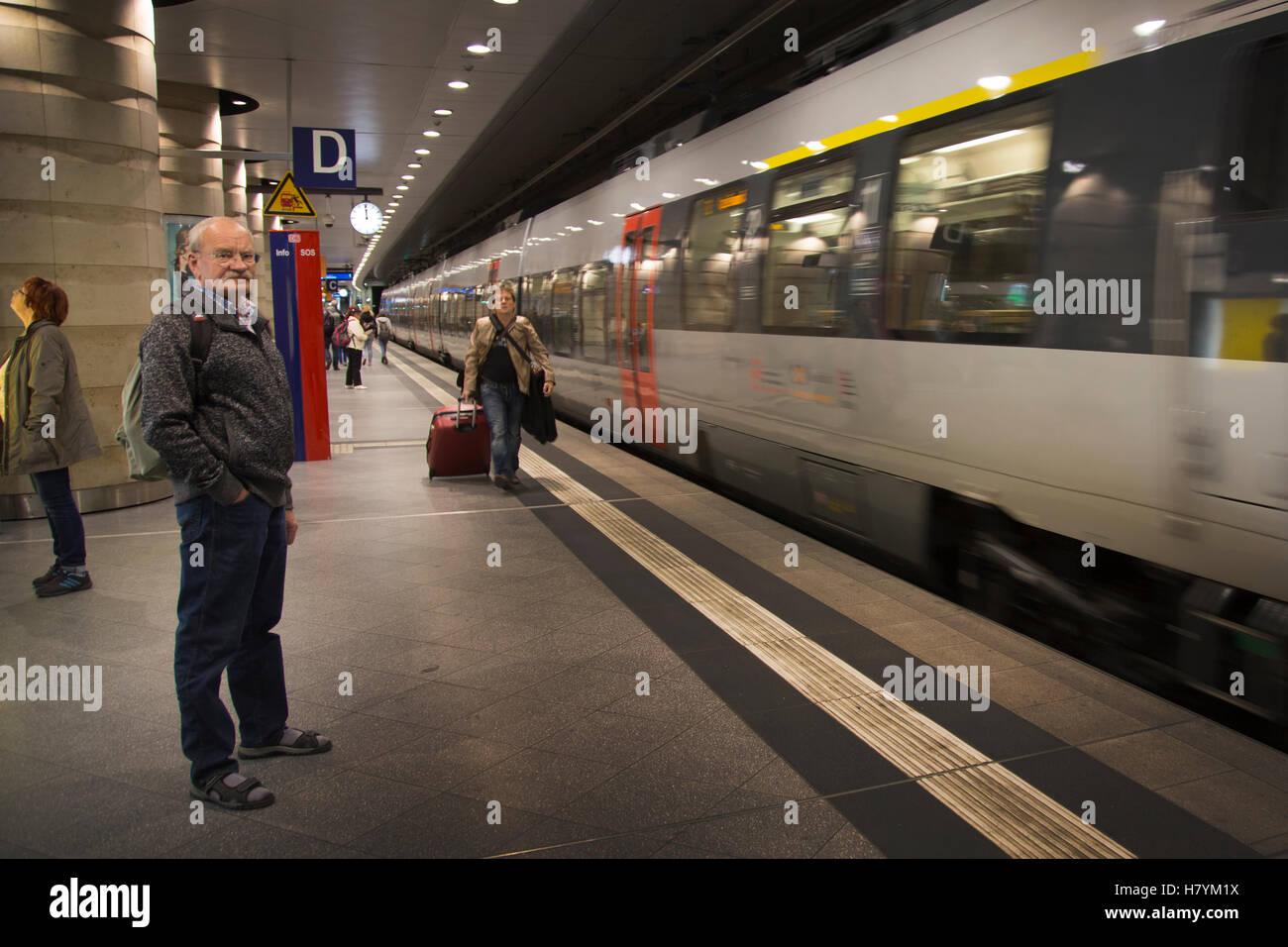 Leipzig Train Station, HBH, Germany - Stock Image