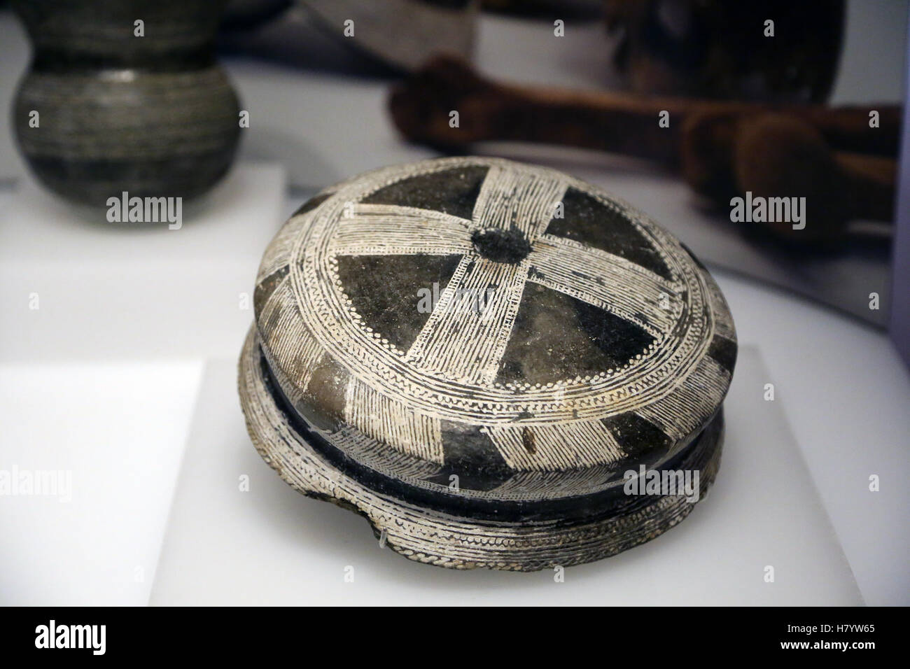 Chalcolithic. The first Bell-Beaker. Ciempuzuelos, Madrid. Spain. - Stock Image