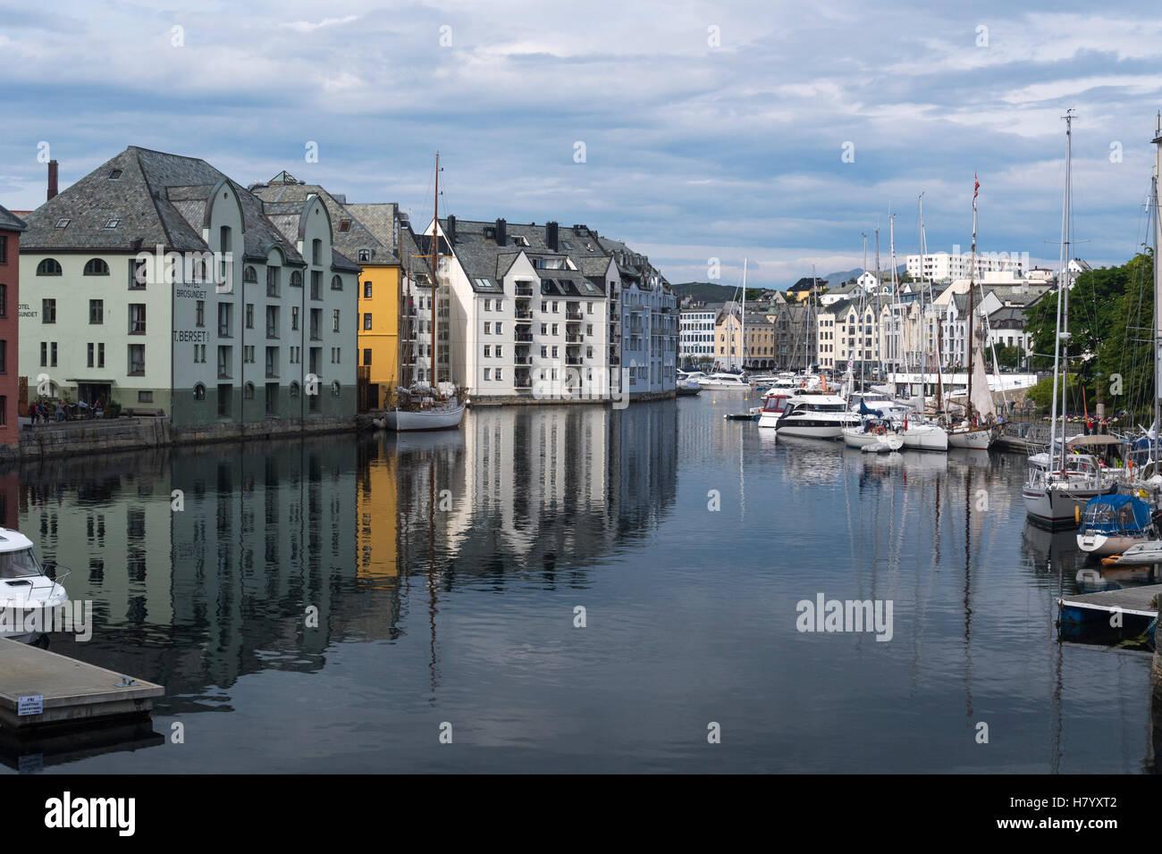 Inner Harbour, Alesund, Møre og Romsdal, Norway - Stock Image