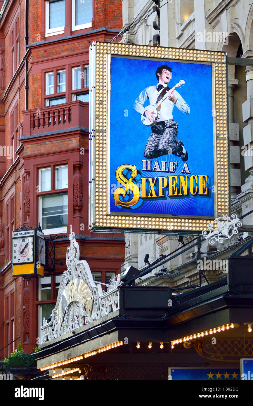 London, England, UK. Half A Sixpence at the Noel Coward Theatre (Nov 2016) [Book: Julian Fellows; new songs by George - Stock Image
