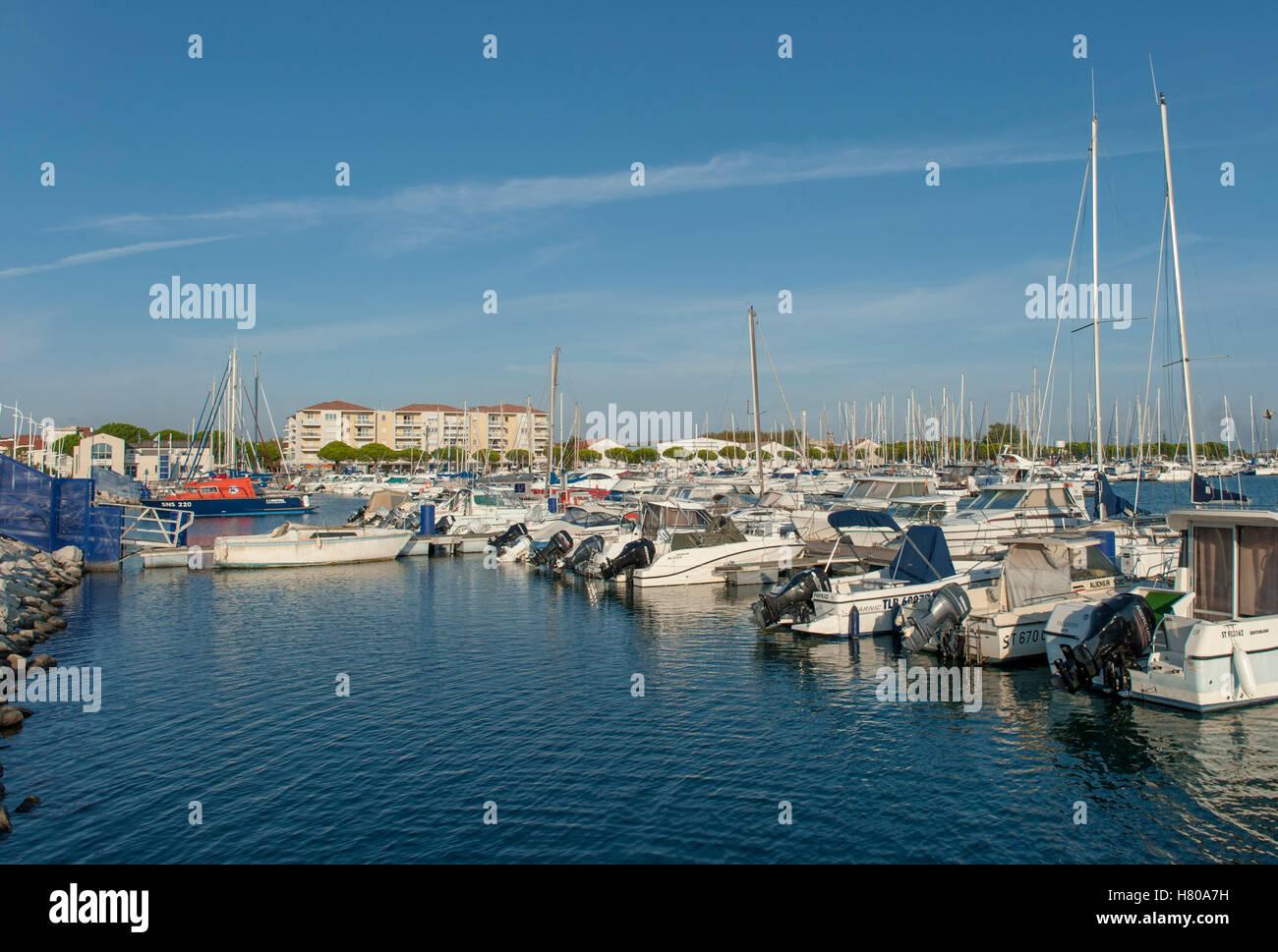 The Harbour Of Port Saint Louis Du Rhone In The Camargue Stock Photo