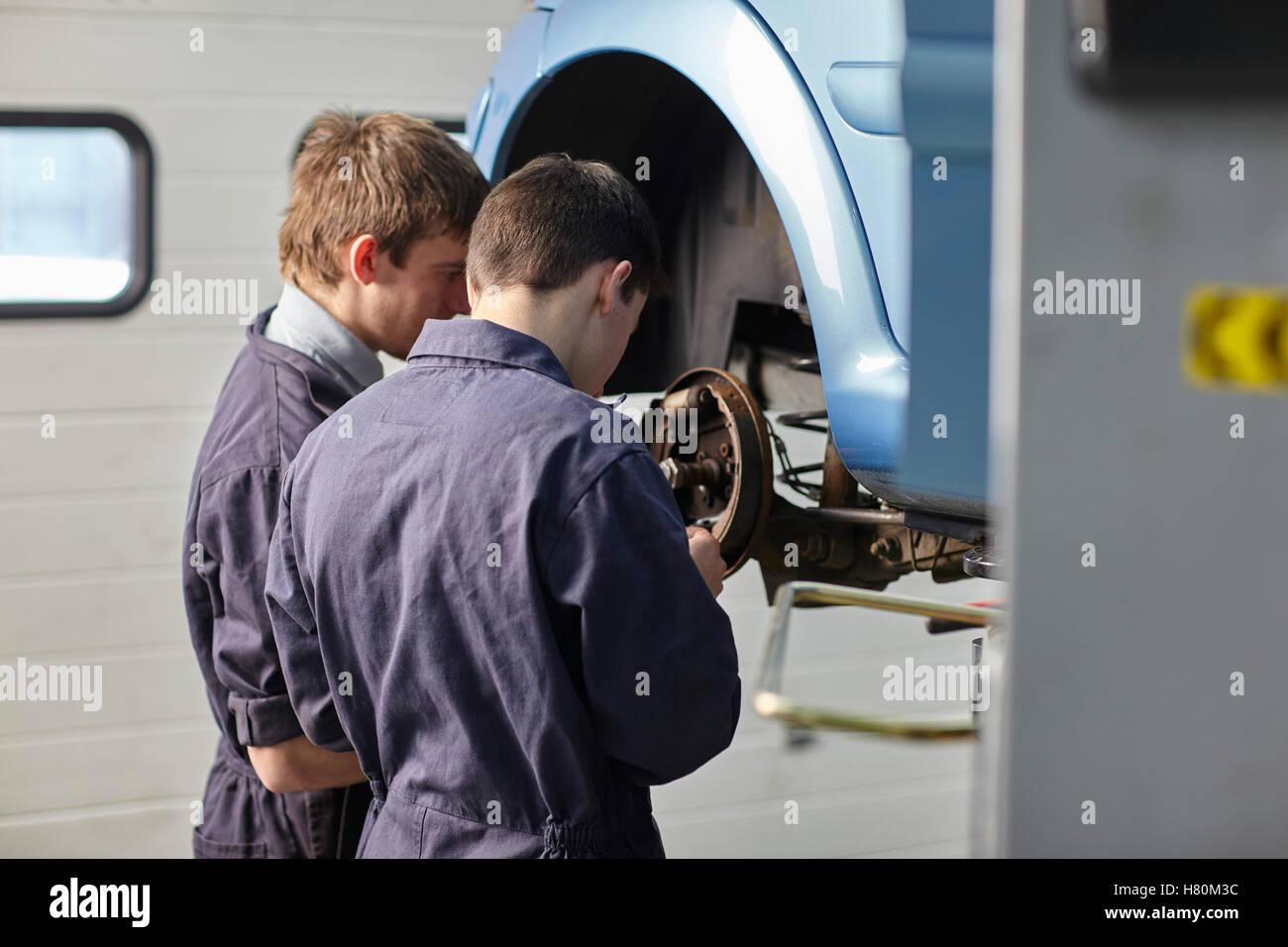 Motor Car Servicing - Stock Image