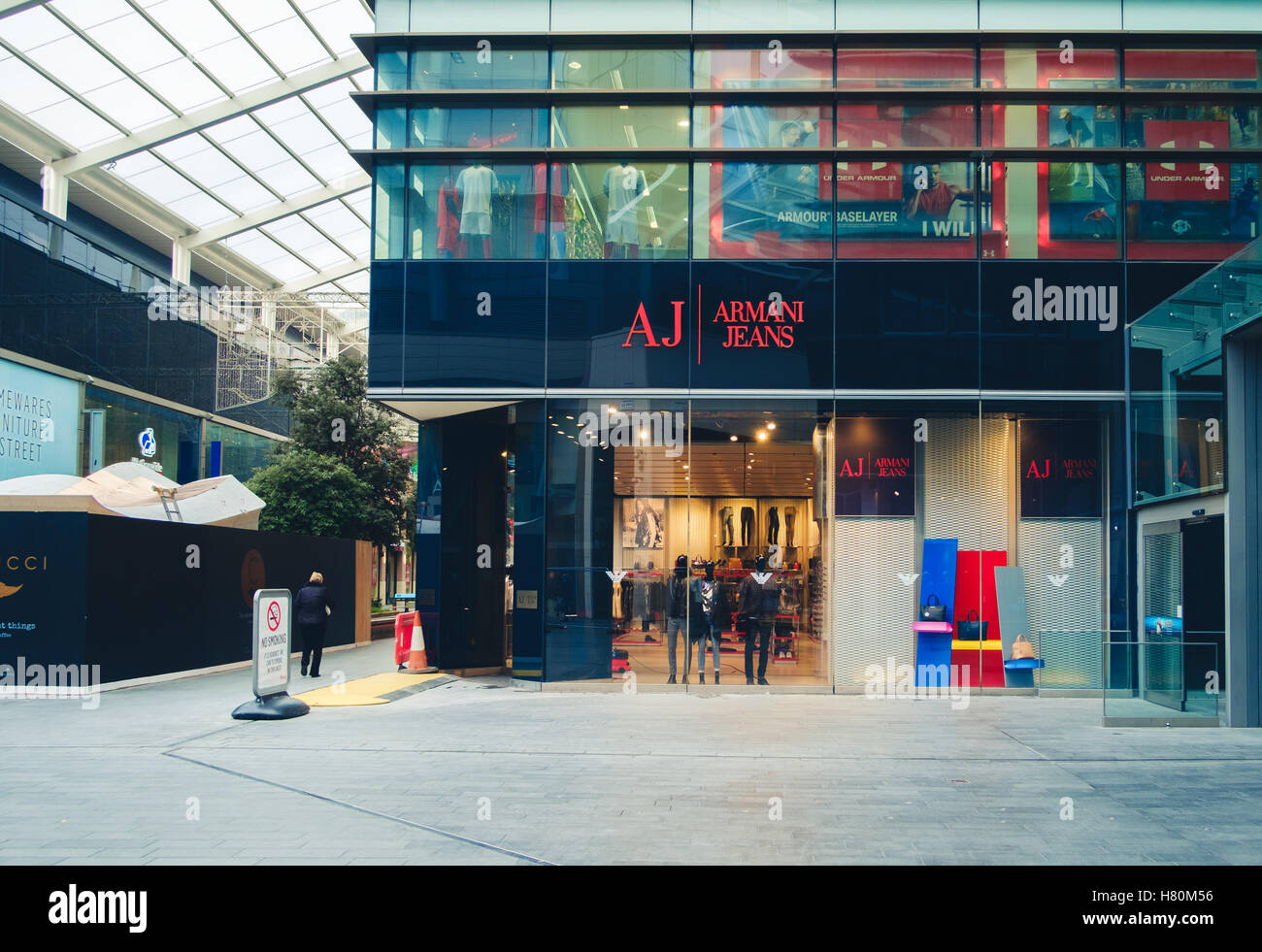 fe60a9c05e Armani Jeans designer goods store in Westfield Stratford, East Stock ...