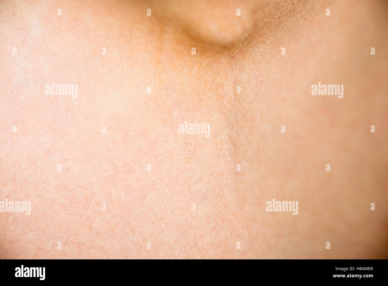 A man's skin on the inside of the elbow. - Stock Image