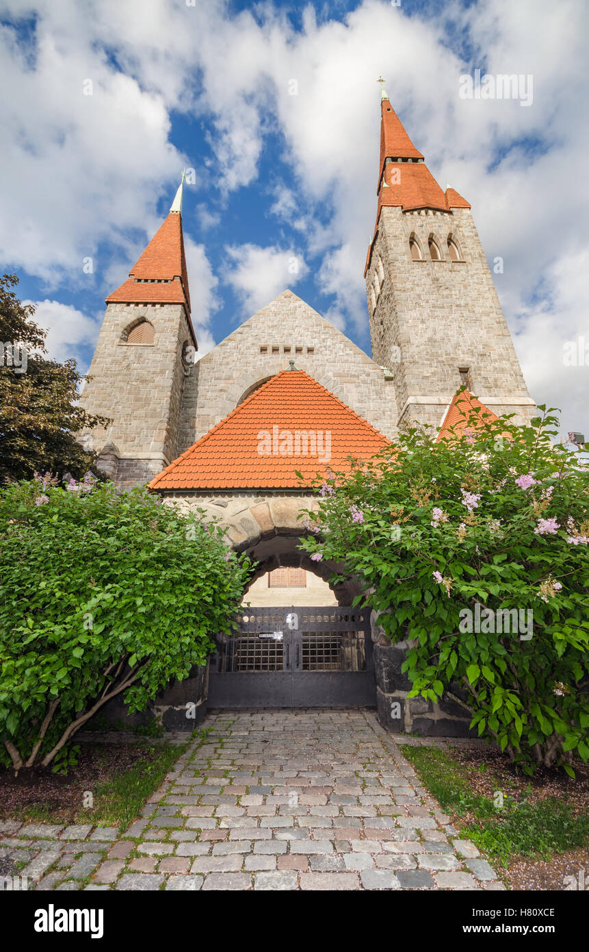 Famous landmark Tampere Cathedral, Finland. - Stock Image