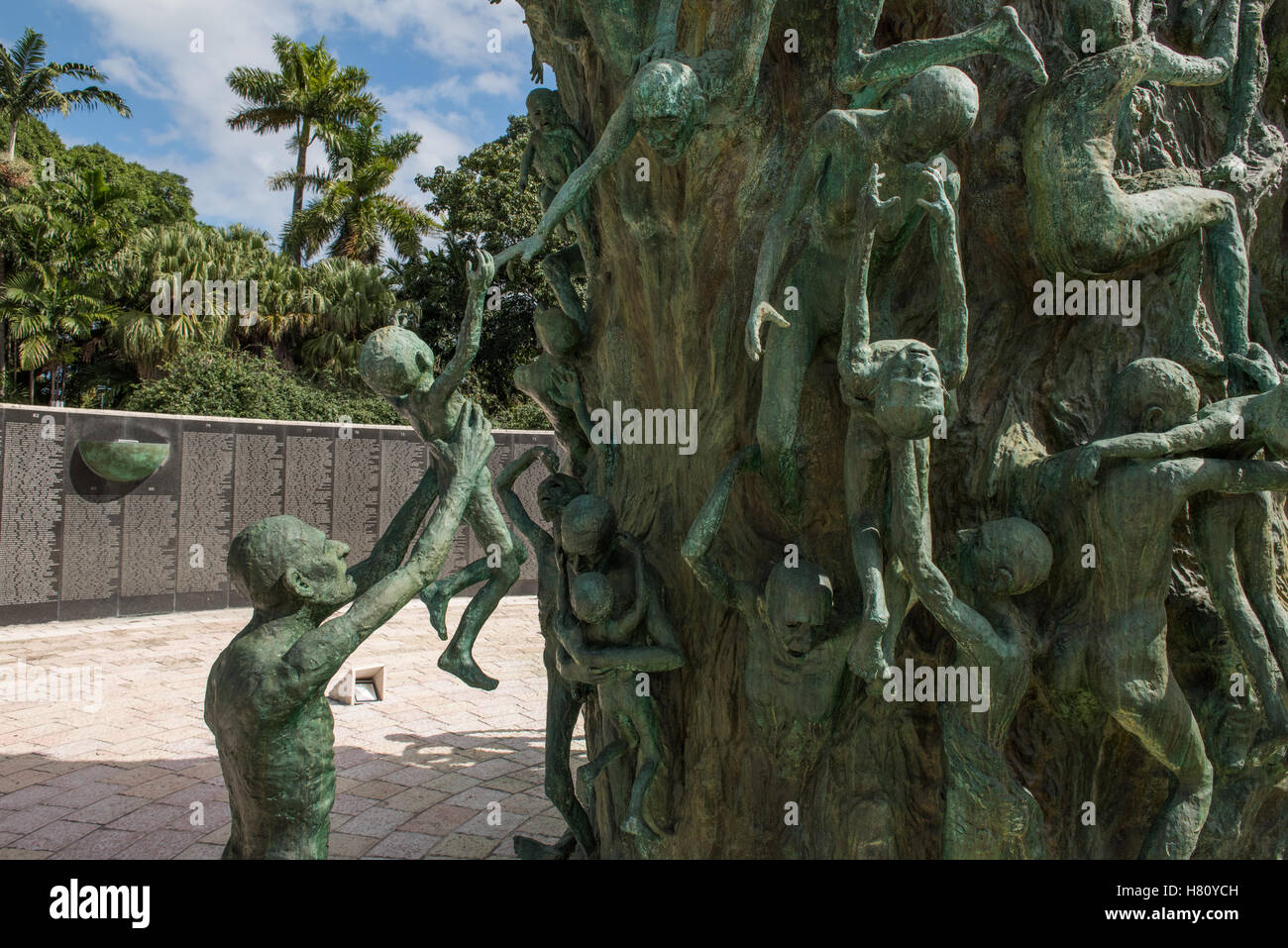 Holocaust Memorial Museum. Miami Beach, Florida, In memory of the 6 million Jewish victims of the Holocaust. Stock Photo