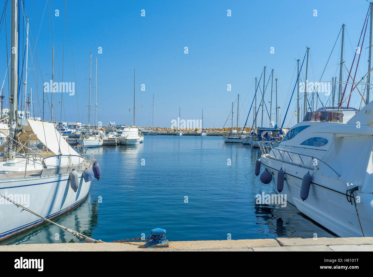 The resorts of Tunisia offers many ways of timespending, the yachting is the one of main, Monastir. - Stock Image