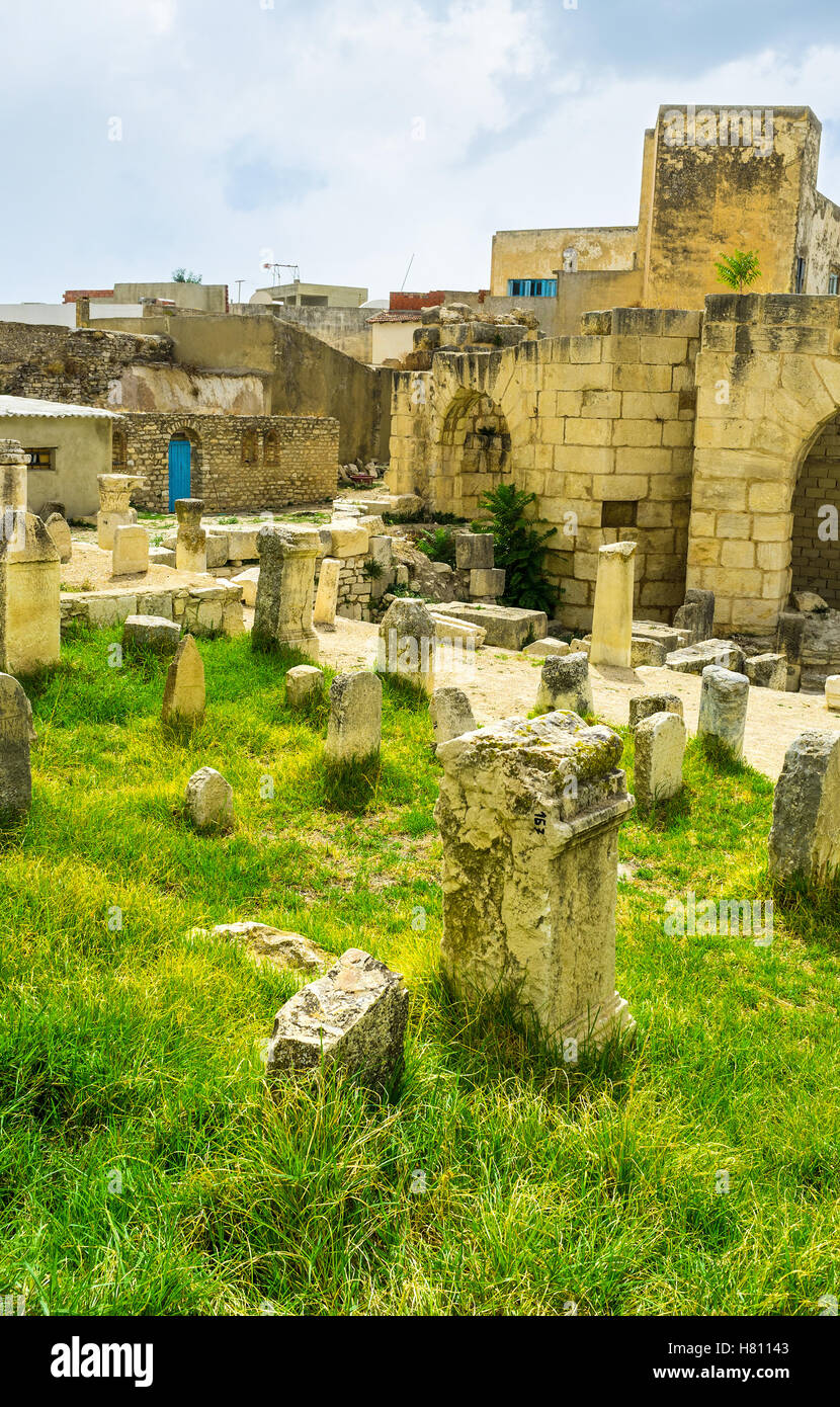 The Northern Tunisia boasts the large amount of the Roman artifacts and archaeological sites, El Kef. - Stock Image